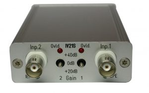 IV21S 2-channel IEPE power supply with gain