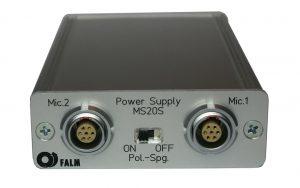 MS20S 2-Kanal Mikrofonspeisegeräte, Frontansicht